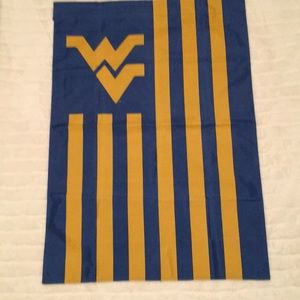 "Blue and gold ""flying WV"" large flag"